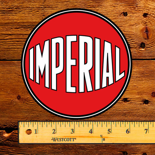 "Esso Imperial Red Ball 6"" Lubester Decal"