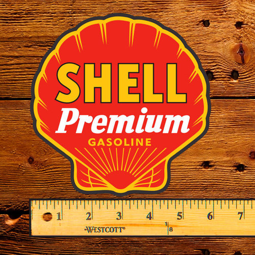 "Shell Premium Gasoline 6"" Lubester Decal"