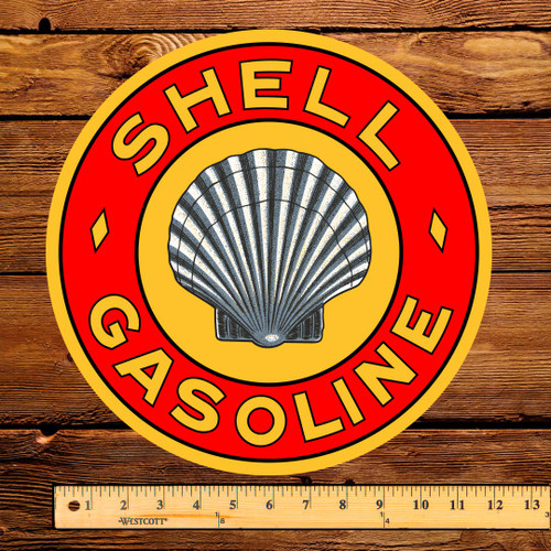 "Shell Roxanna Gasoline 12"" Pump Decal"