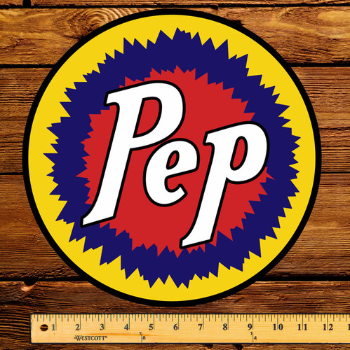 "Pep Boys PEP Gasoline 12"" Gas Pump Decal"