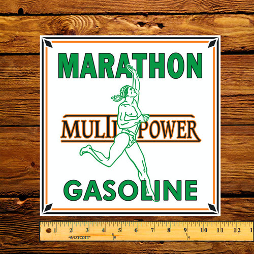 "Marathon Multi Power 11"" Gas Pump Decal"