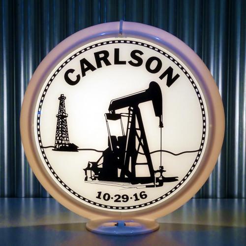 Carlson Anniversary custom globe | Pogo's Garage