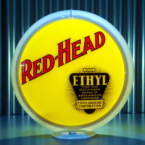 Red Head Ethyl custom globe | Pogo's Garage