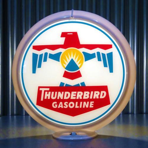 Thunderbird Gasoline custom globe | Pogo's Garage