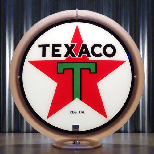 "Texaco T Gasoline - 13.5"" Gas Pump Lenses"