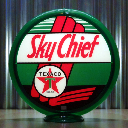 "Texaco Sky Chief Gasoline - 13.5"" Gas Pump Lenses"