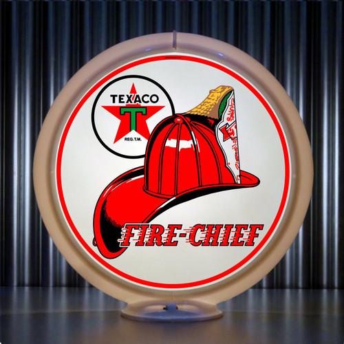 "Texaco Firechief Chief Gasoline - 13.5"" Gas Pump Globe"