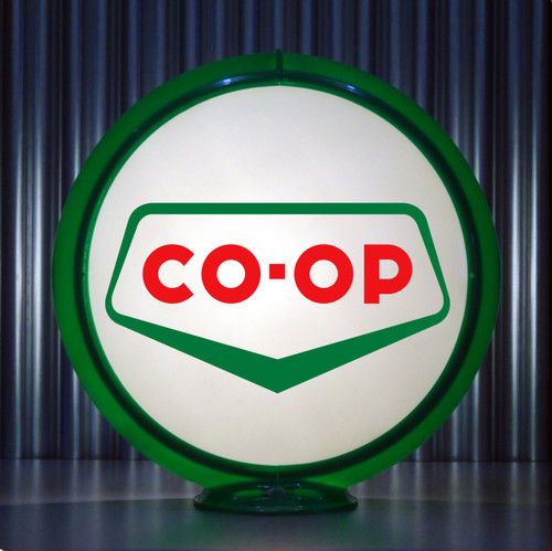 "CO-OP Gasoline - 13.5"" Gas Pump Globe"