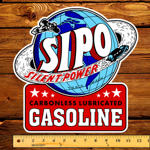 "SIPO Silent Power - Carbonless Lubricated 12"" Pump Decal"