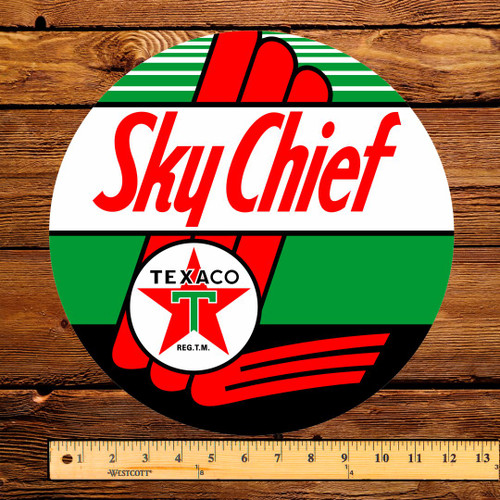 "Texaco Sky Chief Gasoline 12"" Pump Decal"