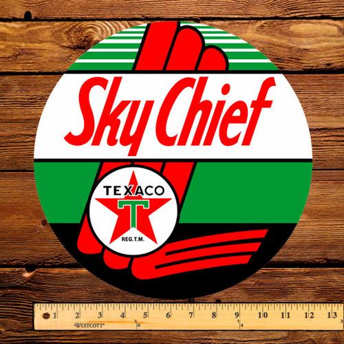 "Texaco Sky Chief Gasoline 12"" Pump Decal"