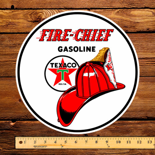 "Texaco Fire Chief Gasoline 12"" Pump Decal"