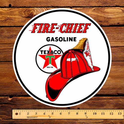 "Texaco Fire Chief Gasoline 12"" Pump Decal"