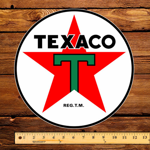 "Texaco T Gasoline 12"" Pump Decal"