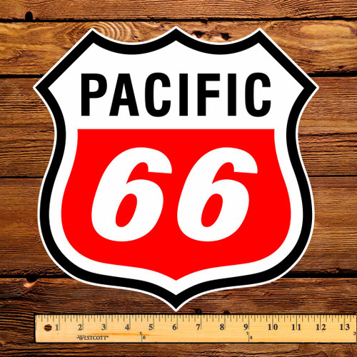 """Pacific 66 12"""" Pump Decal"""