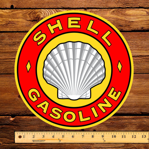 "Shell Gasoline 12"" Pump Decal"