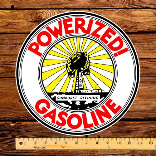 "Powerized Gasoline 12"" Pump Decal"