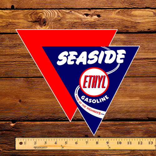 "Seaside Ethyl Gasoline 12"" Pump Decal"