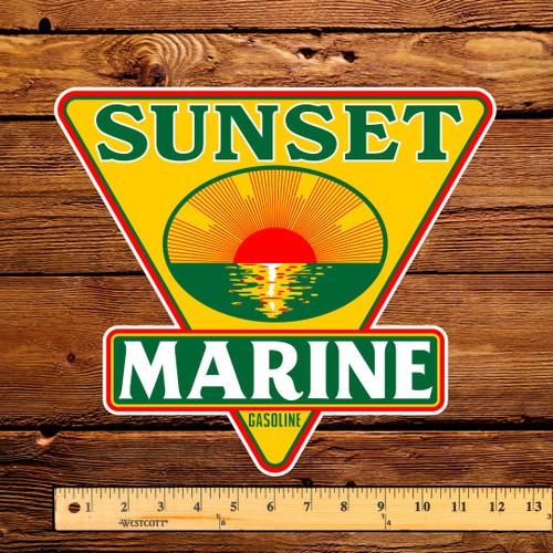 "Sunset Marine Gasoline 12"" Pump Decal"