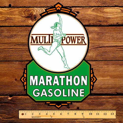 "Marathon Multi Power 15"" Gas Pump Decal"