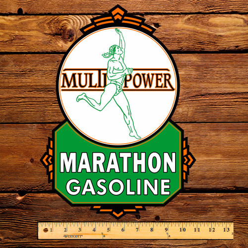 "Marathon Multi Power 15"" Gas Pump Decal"