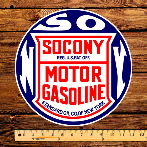 "Socony Motor Gasoline 12"" Pump Decal"