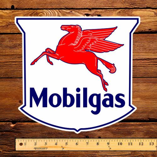 "Mobilgas Shield 12"" Pump Decal"