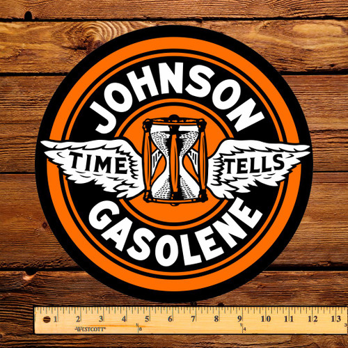 "Johnson Gasoline 12"" Pump Decal"