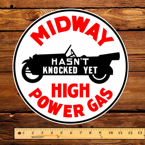 "Midway High Power Gas 12"" Pump Decal"