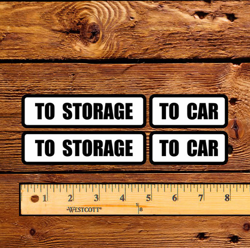 G&B Visible To Car - To Storage Decal Set