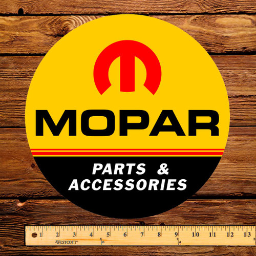 "Mopar Parts & Accessories 12"" Gas Pump Decal"