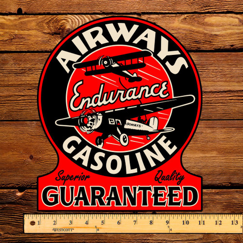 "Airways Endurance Gasoline 12"" Gas Pump Decal"