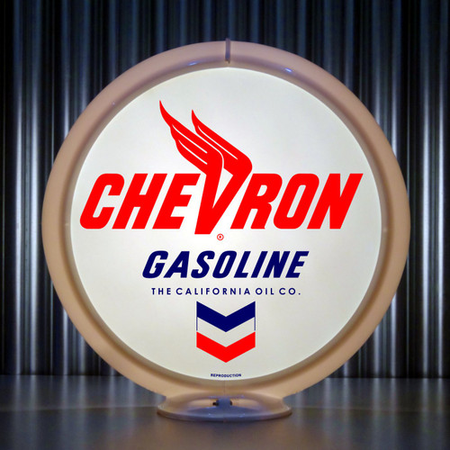 Chevron Gasoline | Gas Pump Globe