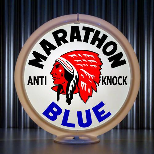 Red Indian Marathon Blue (Late) | Gas Pump Globe