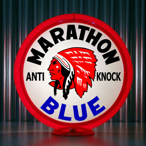 Red Indian Marathon Blue (Late) | Gas Pump Globe