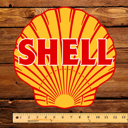 "Shell (West Coast) Gasoline 12"" Pump Decal"