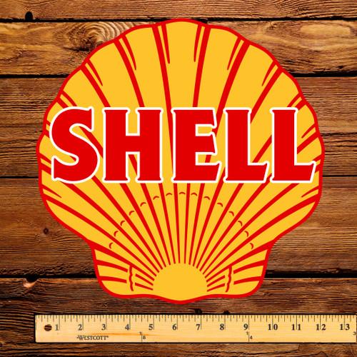 "Shell (West Coast) Gasoline 12"" Pump Decal"
