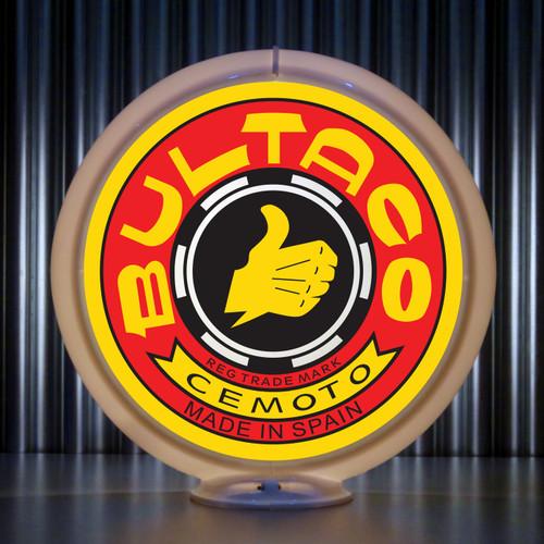 Bultaco Motorcycles custom globe | Pogo's Garage