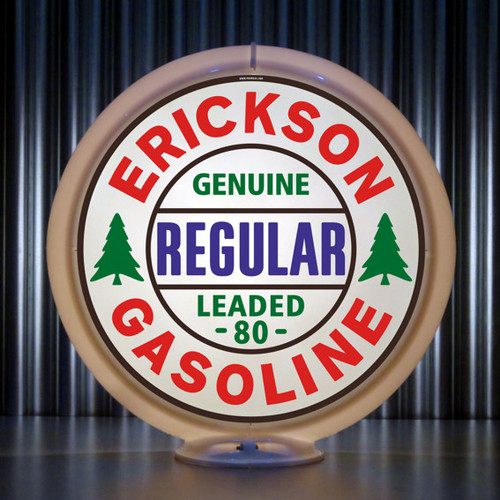 Erickson Regular Gasoline custom globe | Pogo's Garage