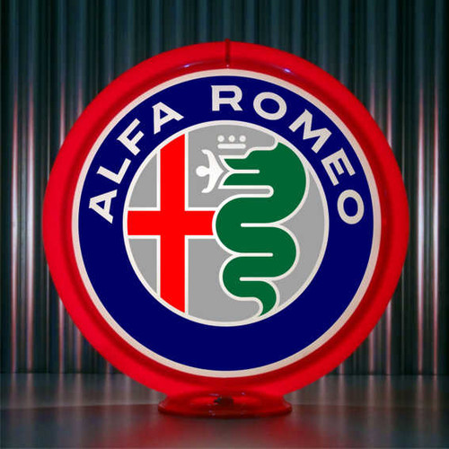 Alfa Romeo custom gas pump globe