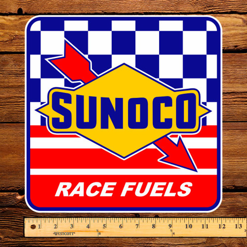 "Sunoco Race Fuels 12"" Pump Decal"