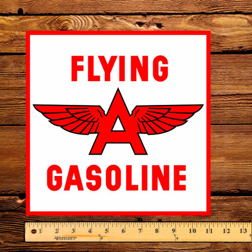Flying A Tidewater Associated (West Coast) Pump Decal