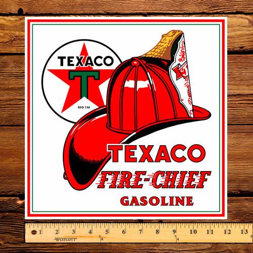 "Texaco FIRE-CHIEF Gasoline 12"" Pump Decal"