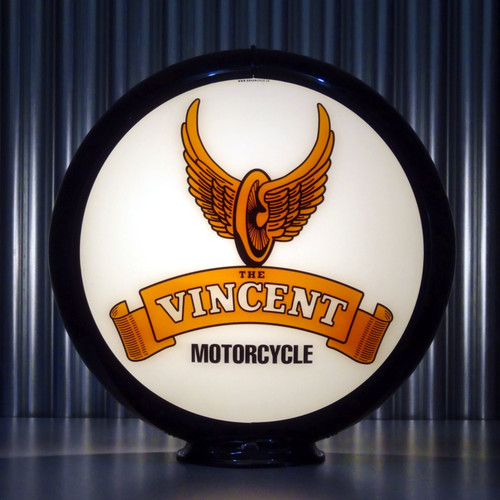 Vincent Motorcycles custom gas pump globe