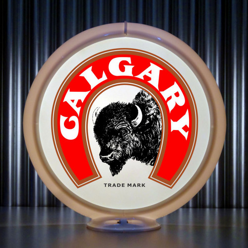 Calgary Brewing custom gas pump globe