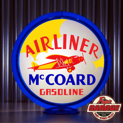McCoard Airliner custom gas pump globe