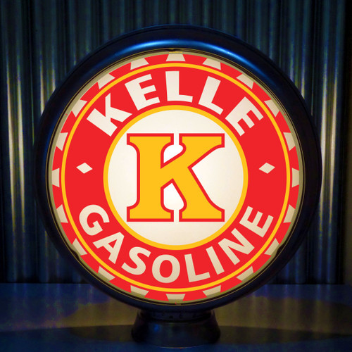 Kelle Oil Co custom gas pump globe