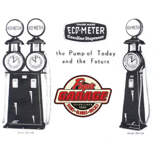 Canadian Eco-Meter DM-160 & DM-465 Clock Face Gas Pump