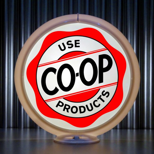 Use CO-OP Products custom gas pump globe