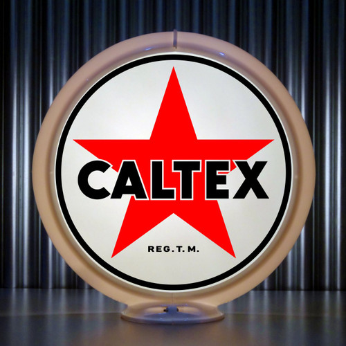 Caltex custom gas pump globe